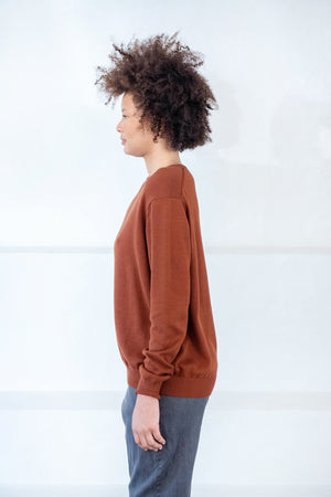 KOW TOW - freya top, brown
