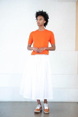 SARA LANZI - round neck t-shirt, orange