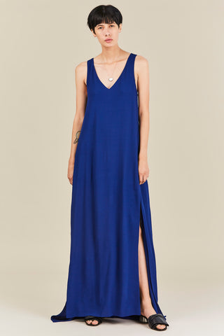 Twist Back Gown, Lapis