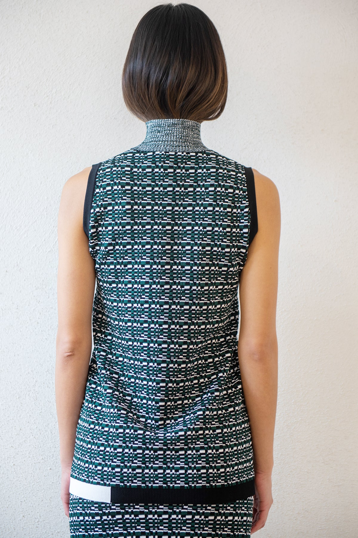 GAUCHERE - renecia top, pine green print