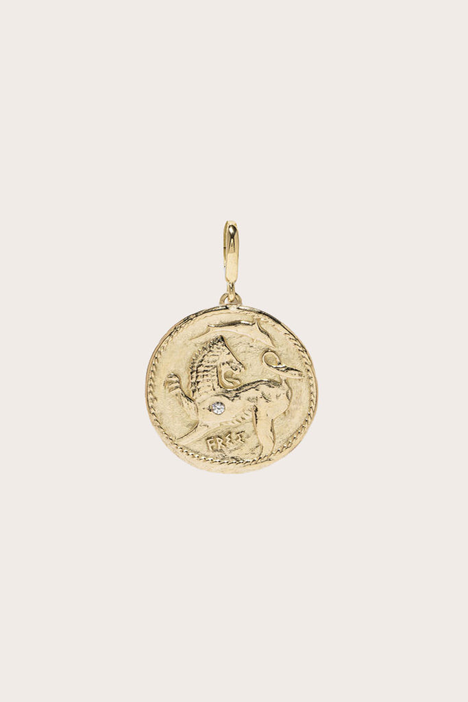 Azlee - Animal Kingdom Small Diamond Charm, Gold