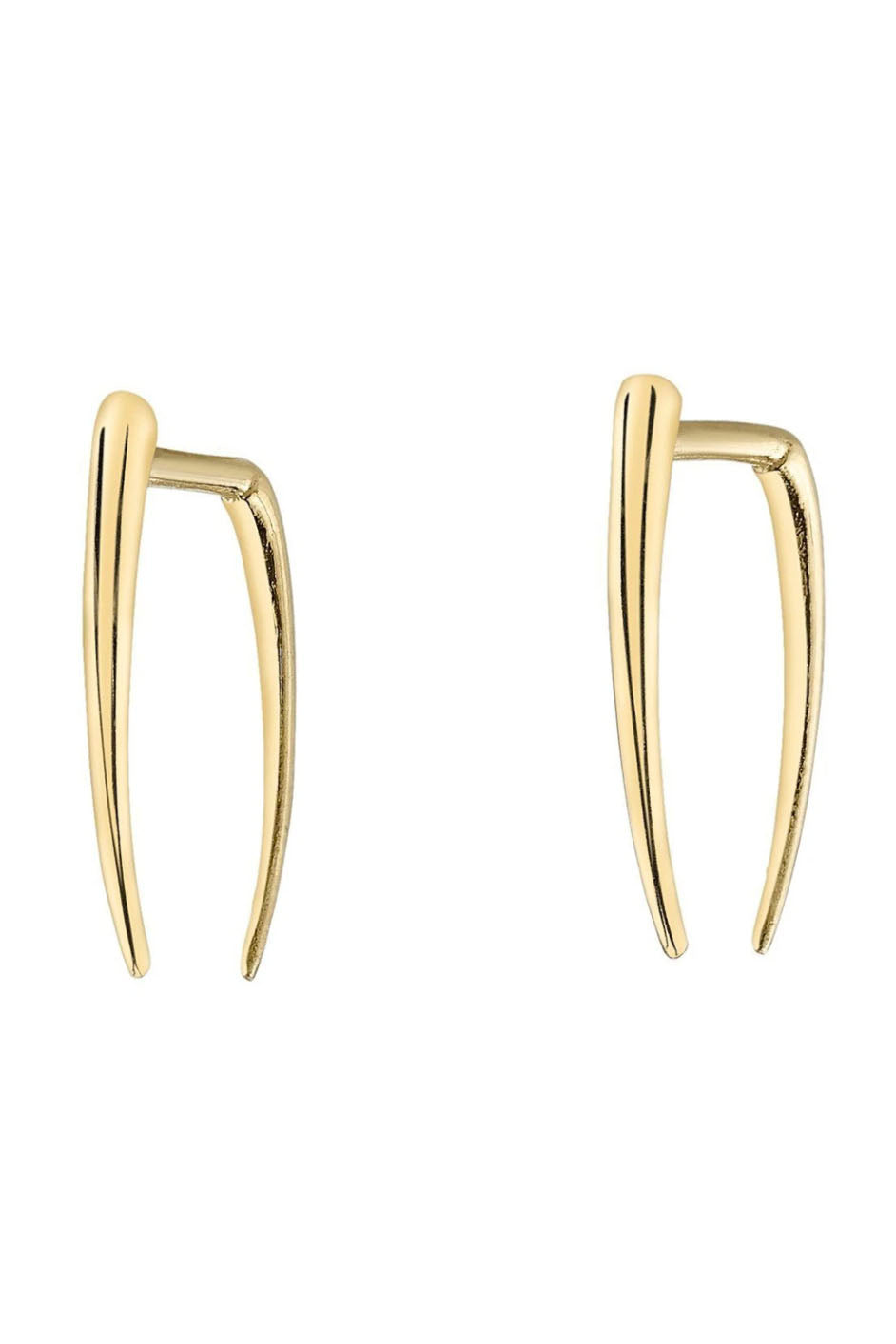 Gabriela Artigas - infinite tusk earrings, gold