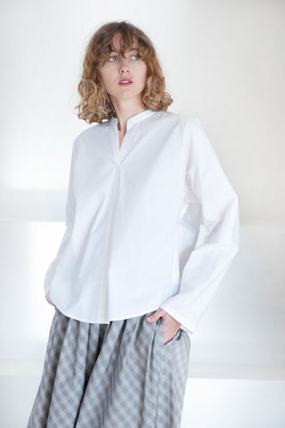 BAJ cotton poplin shirt, white