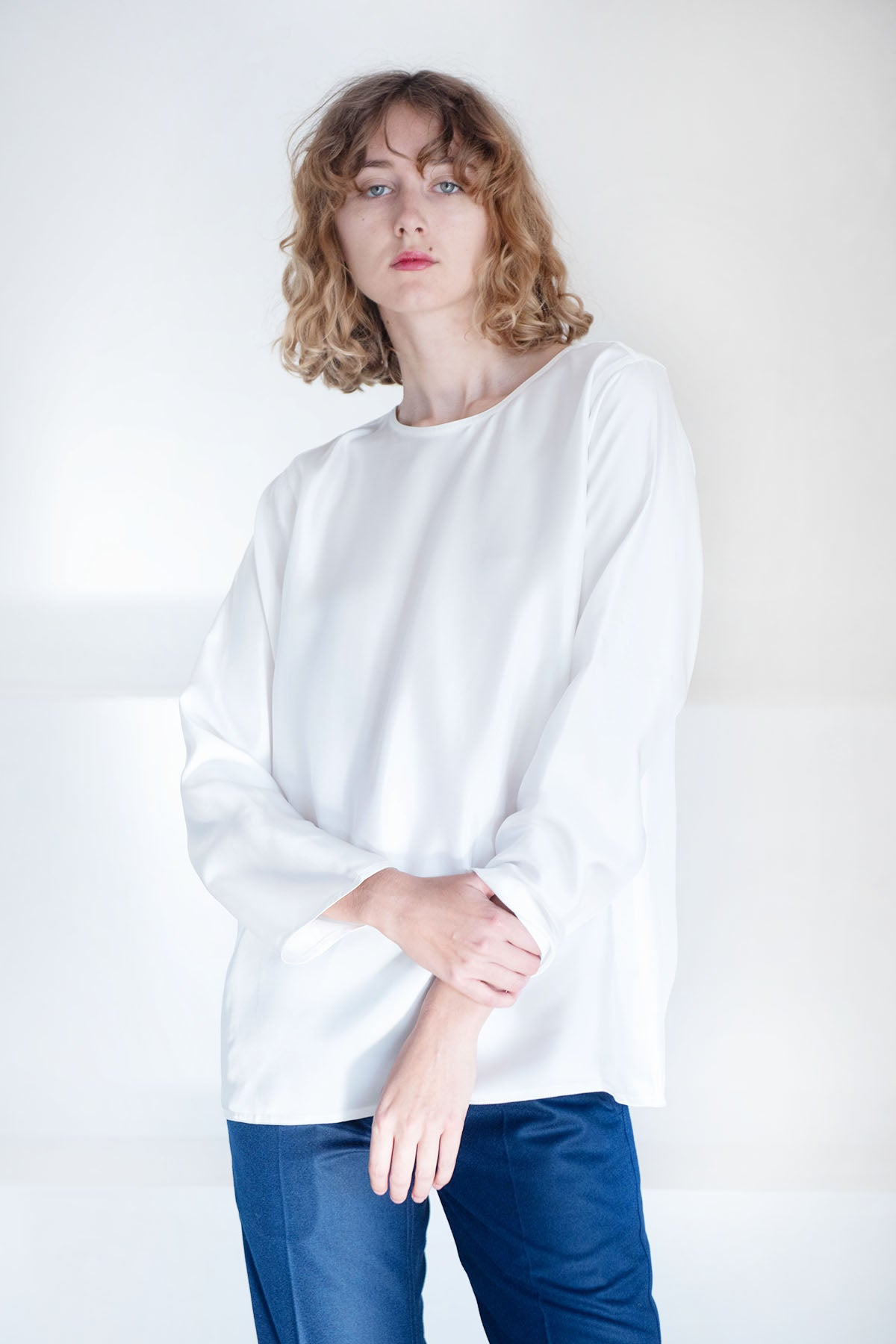 Sofie D'Hoore - silk twill blouse, off-white