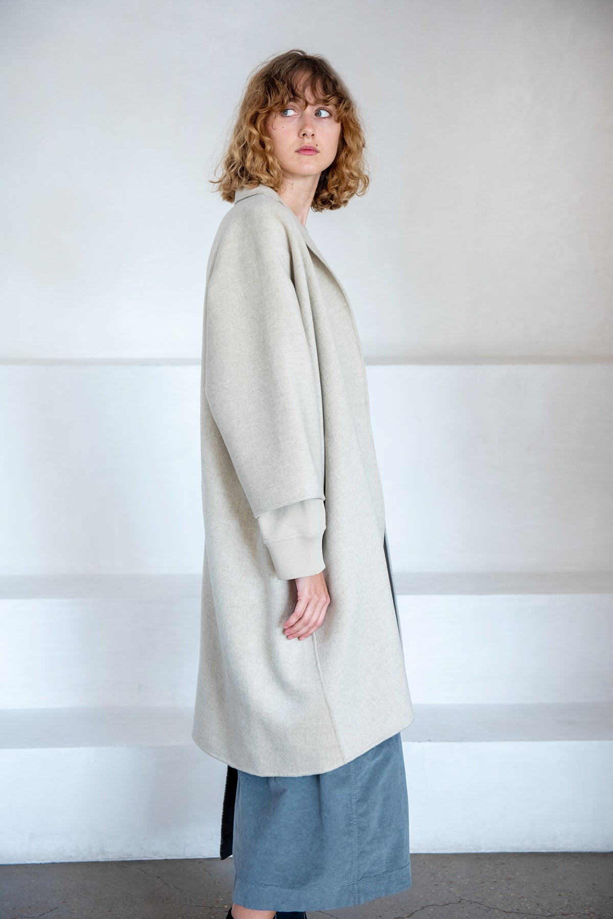 Sofie D'Hoore - CARRA double faced wool/cashmere jacket, oatmeal