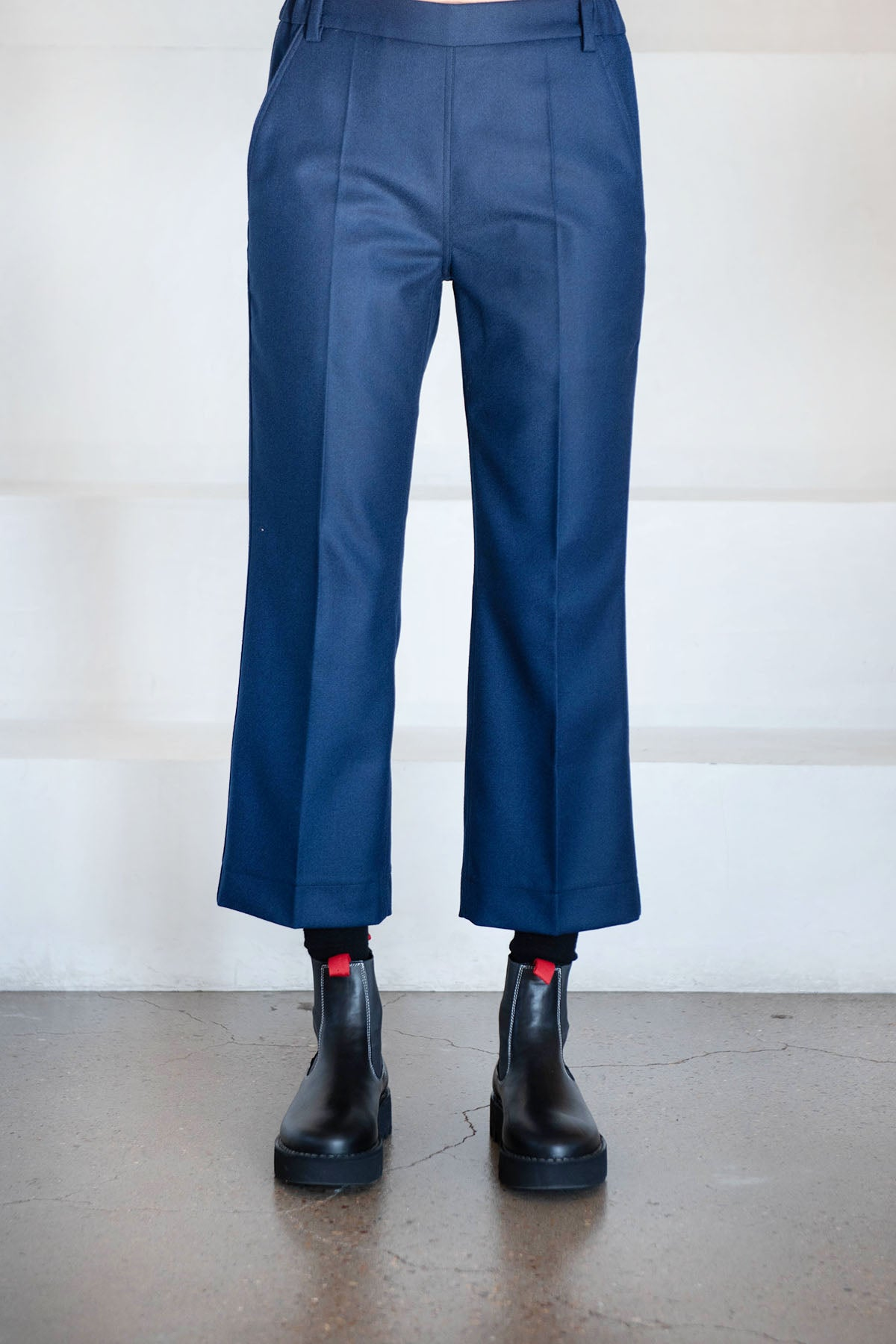 Sofie D'Hoore - wool flannel pants, blue