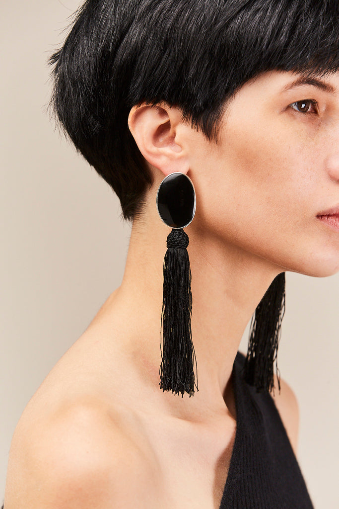 Sophie Buhai - Sabine Tassel Earrings, Silver