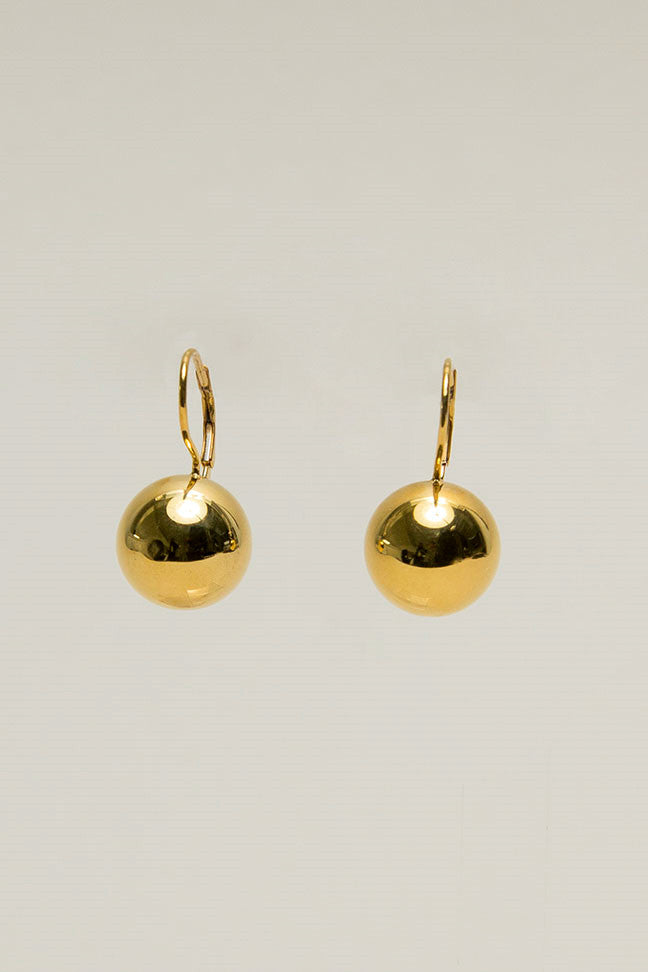 Sphere Drop Earrings, Gold Vermeil