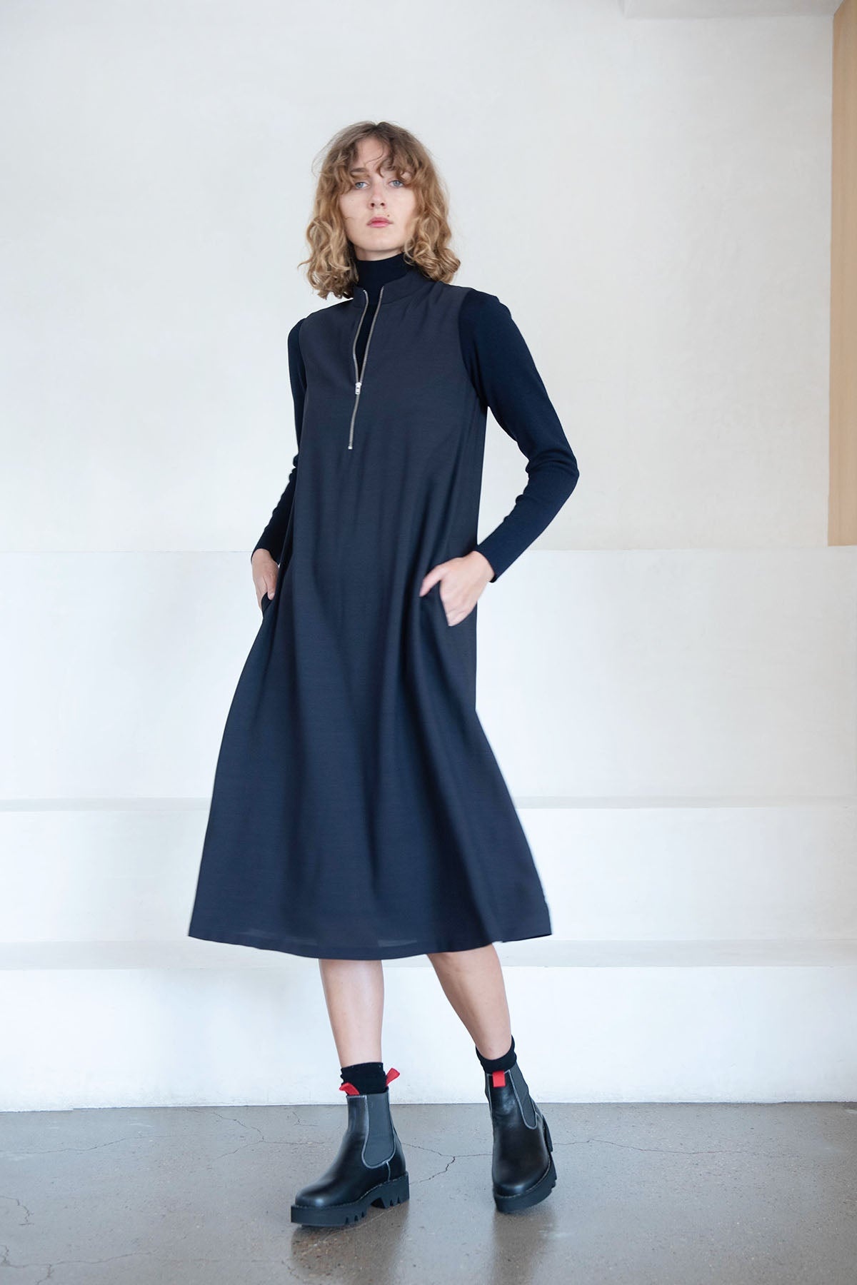 Stephan Schneider - dogma dress, navy