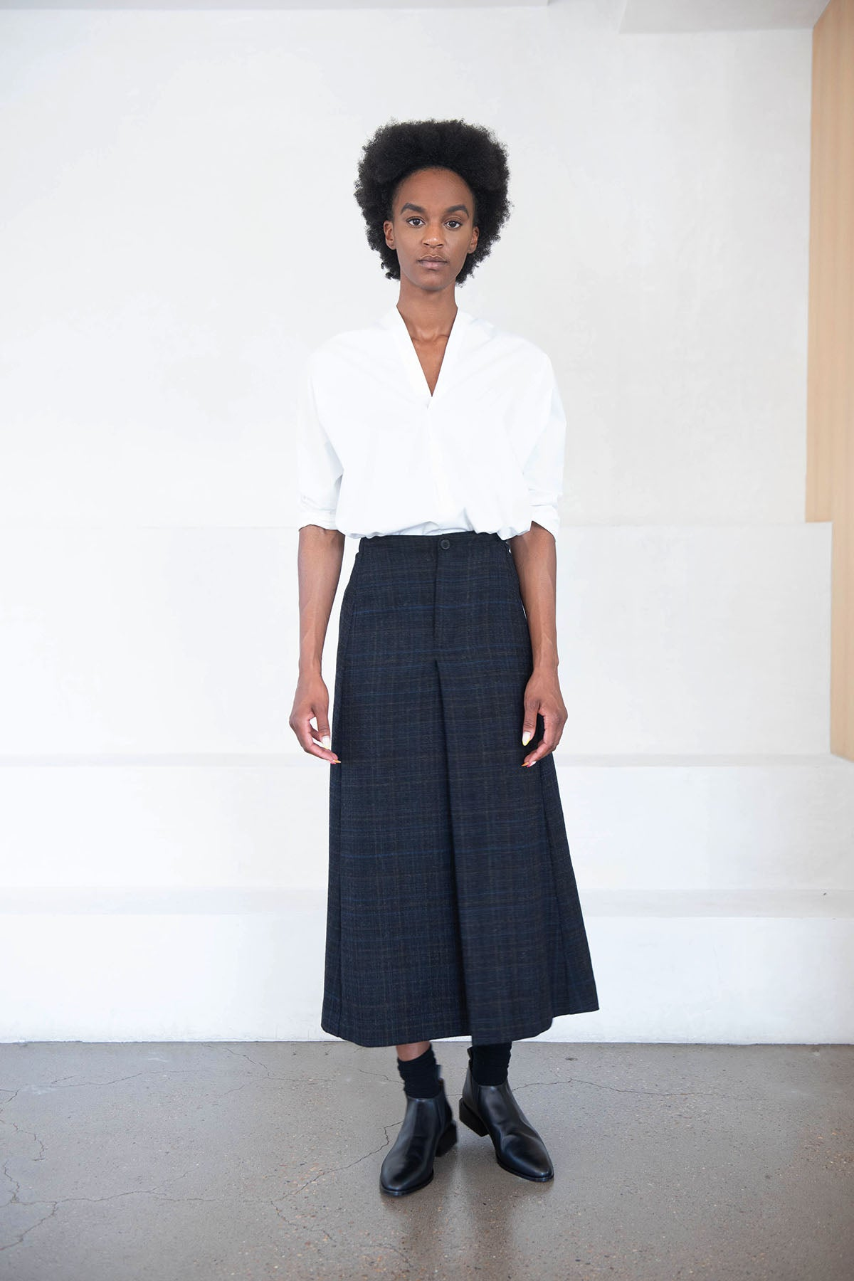 Stephan Schneider - theory skirt, plaid