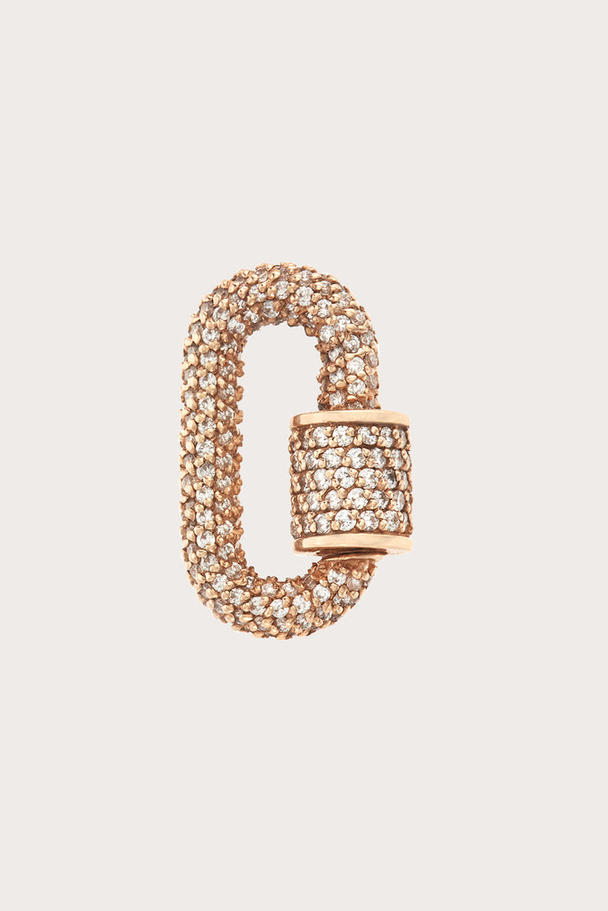 stone chubby baby lock with diamonds, yellow gold