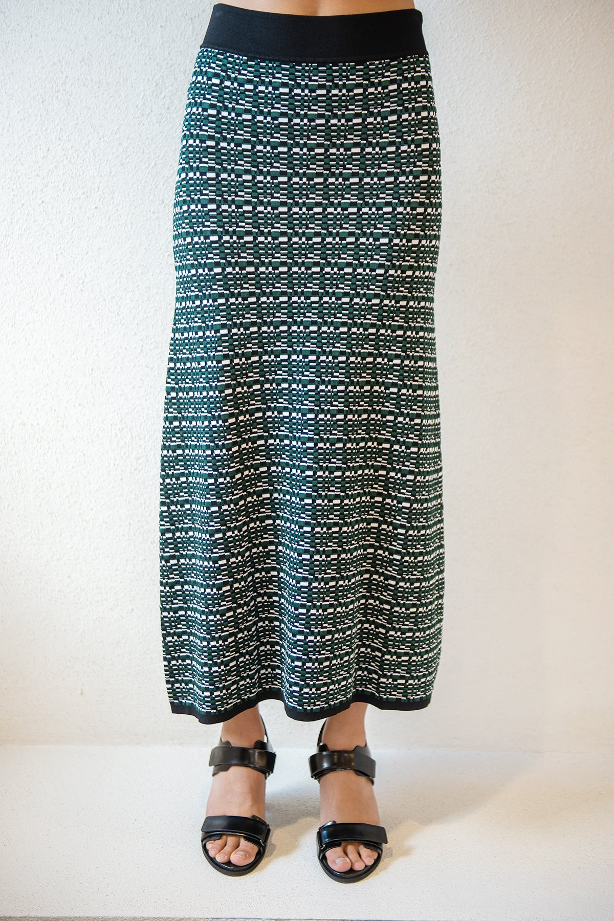 GAUCHERE - raquel skirt, pine green print