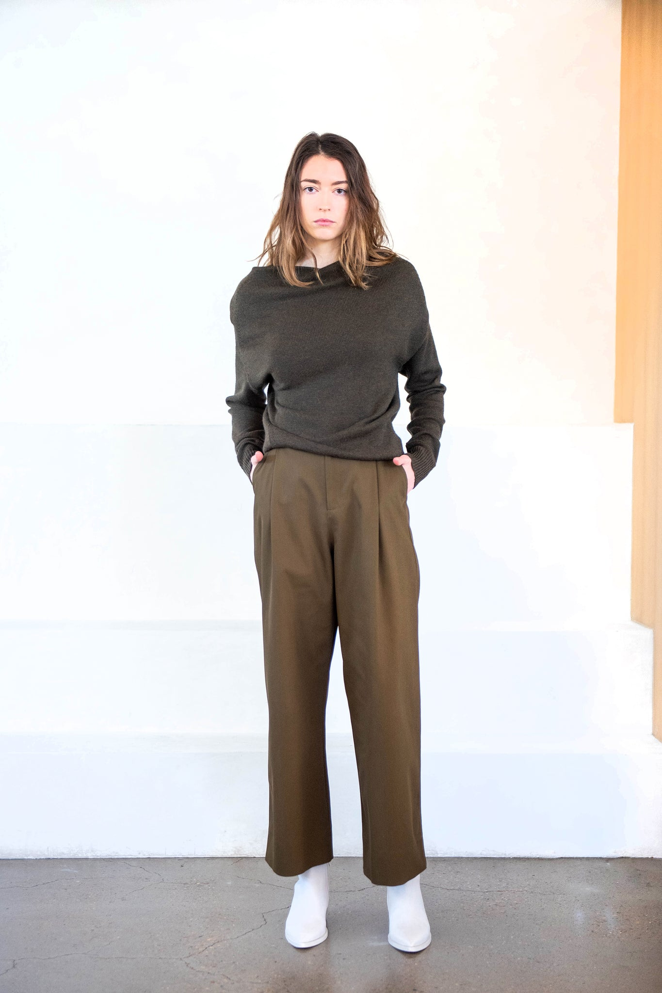 Studio Nicholson - full length trouser, moss