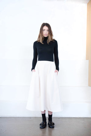 Studio Nicholson - mason panelled skirt, milk
