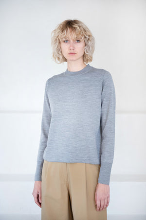 Studio Nicholson - wheeler knit top, grey marl