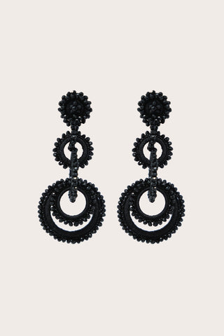 Long Sundrop Earrings, Black
