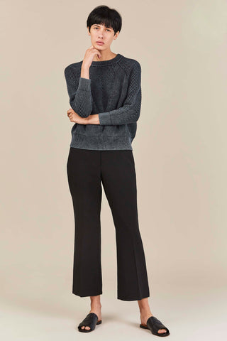 Anson Cropped Boot Cut Pant, Black