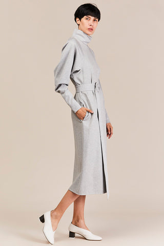 Calvary Dolman Sleeve Dress, Grey Melange
