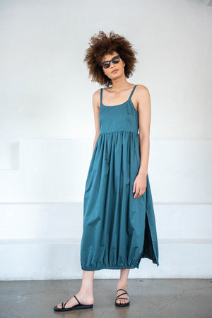 TIBI - balloon dress, green