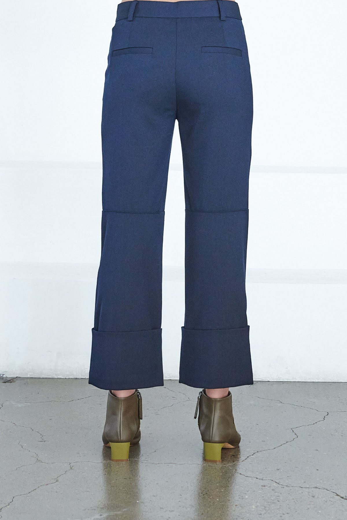 TIBI - luka cropped pant, midnight