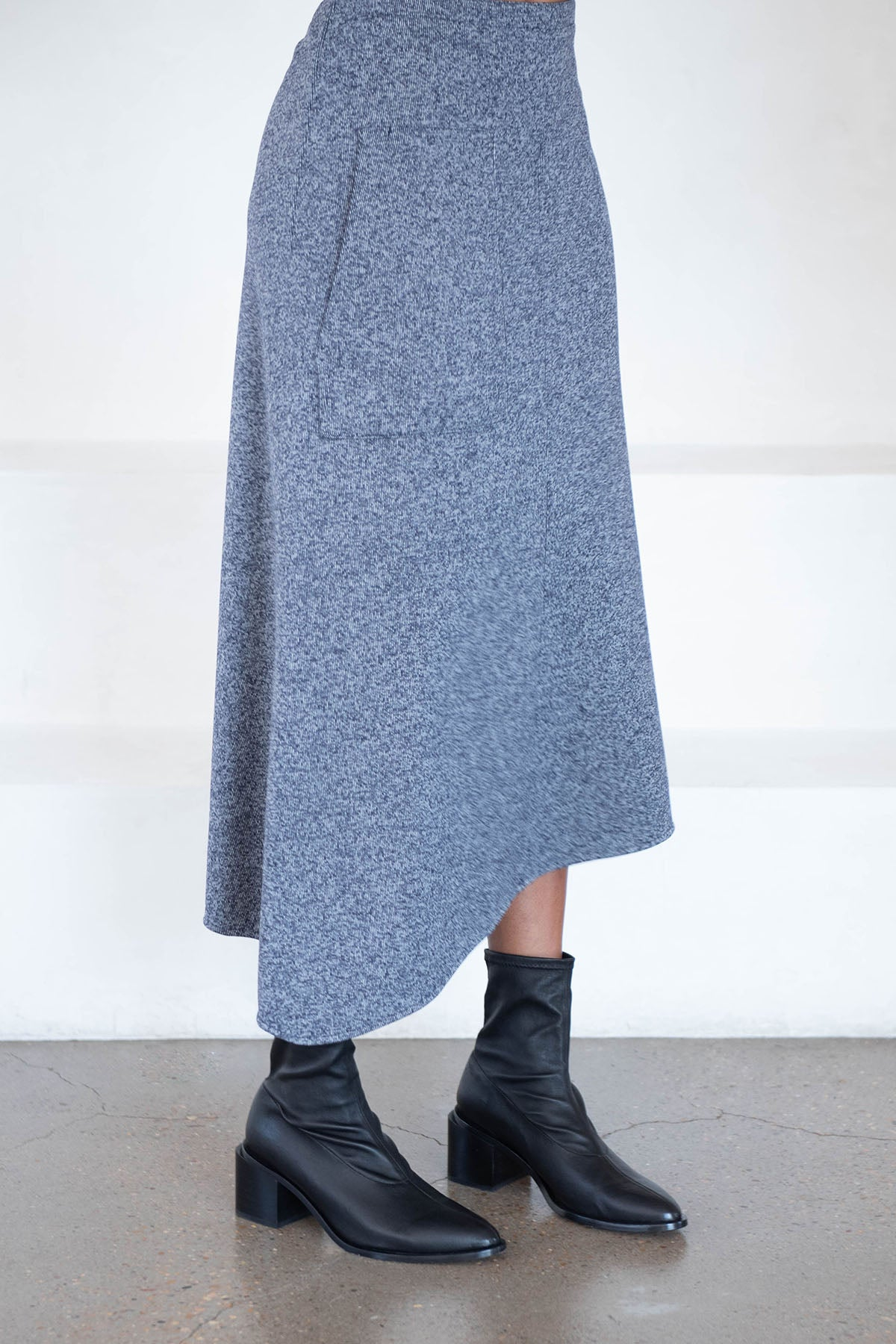 TIBI - origami wrap skirt, navy