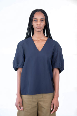 TIBI - plain weave top, midnight