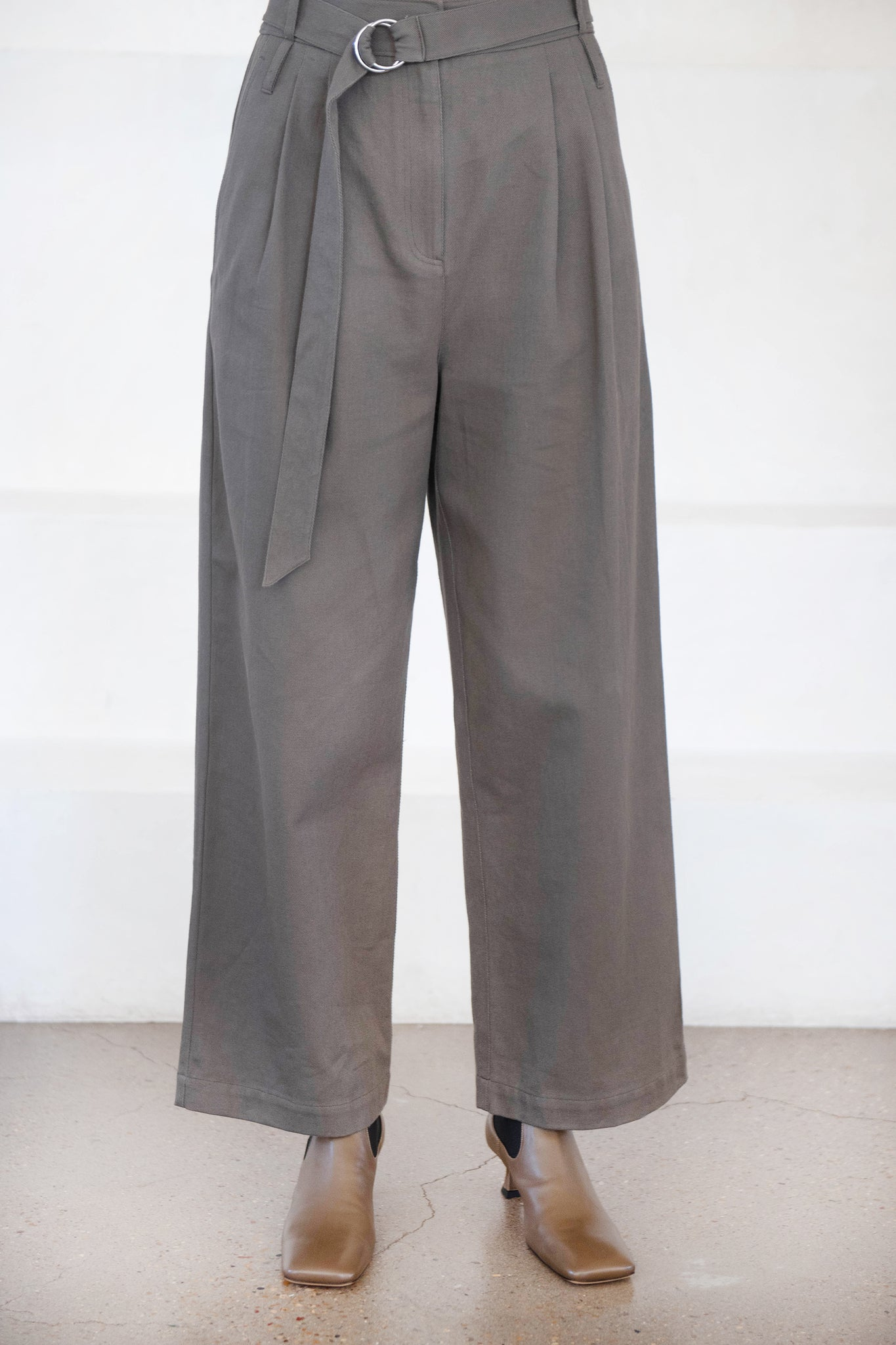 TIBI - stella full length pant, green grey