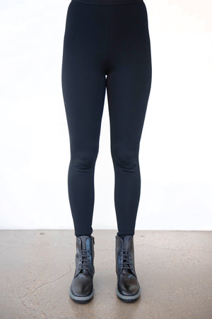 Totême - compact knit leggings, black