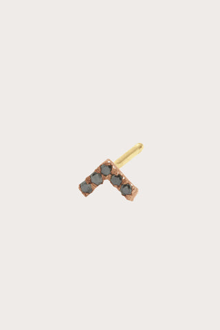 Vera Stud, Rose Gold with Black Diamonds