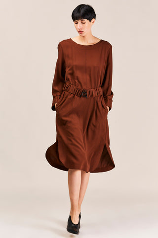 Chestnut Belted Dress