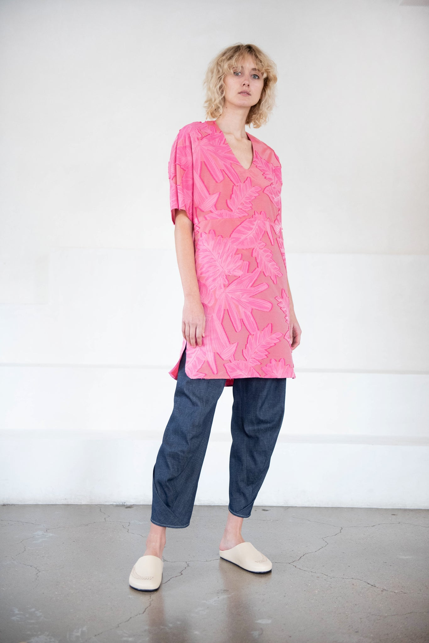 Zero + Maria Cornejo - eri day dress, fuschia