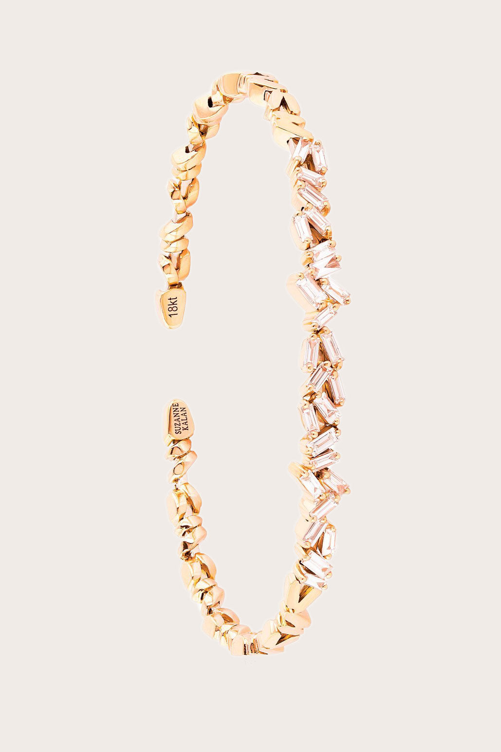 SUZANNE KALAN - Classic ZigZag Bangle, Gold