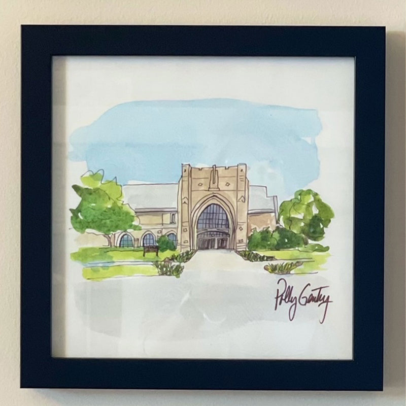 Notre Dame Eck Building Polly Gentry Print