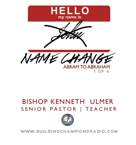 Name Change: 01 Abram to Abraham (MP3 Download)