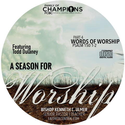 A Season For Worship: Words of Worship Part 4 (CD)