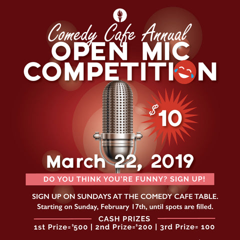 Comedy Cafe March 2019