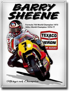 Barry Sheene - Cigarette hole Bell helmet
