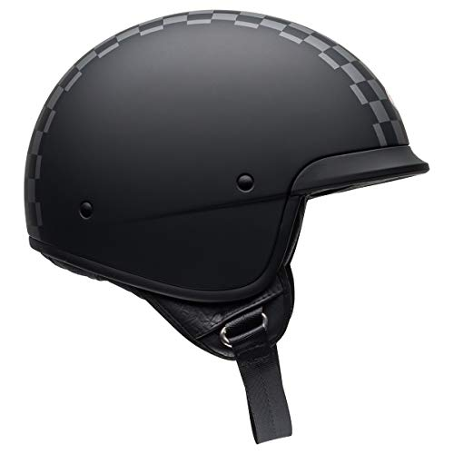 Bell Scout Air Motorcycle Helmet (Check Matte Black/White, Large) - MyBikeCo