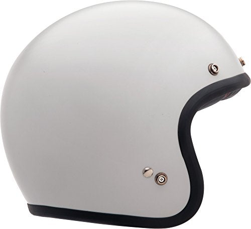 Bell Custom 500 Open-Face Motorcycle Helmet (Gloss Vintage White, Small) - MyBikeCo