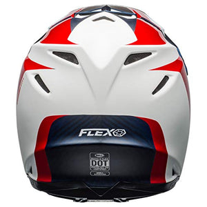 Bell Moto-9 Flex Off-Road Motorcycle Helmet (Division Matte/Gloss White/Blue/Red, X-Large) - MyBikeCo