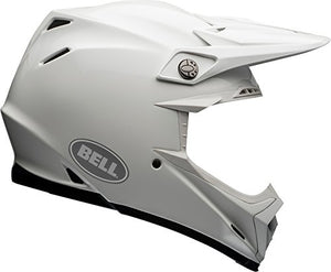Bell Moto-9 Flex Off-Road Motorcycle Helmet (Solid White, Large) - MyBikeCo