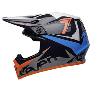 Bell MX-9 MIPS Off-Road Motorcycle Helmet (Seven Ignite Gloss Navy/Coral, Medium) - MyBikeCo