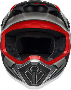 Bell MX-9 MIPS Off-Road Motorcycle Helmet (Twitch Replica Matte Gloss Black/Red/White, Medium) - MyBikeCo