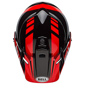 Bell MX-9 Adventure MIPS Full-Face Motorcycle Helmet (Dash Gloss Black/Red/White, Medium) - MyBikeCo