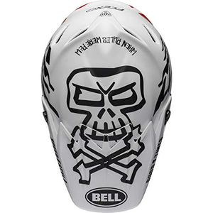 Bell Moto-9 Flex Off-Road Motorcycle Helmet (Fasthouse WRWF Matte White/Black/Red, Large) - MyBikeCo