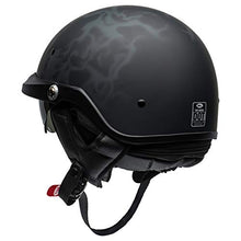 Load image into Gallery viewer, Bell Pit Boss Open-Face Motorcycle Helmet (Flames Matte Black/Gray, X-Large/XX-Large) - MyBikeCo