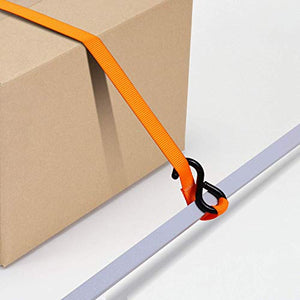 Ratchet Tie Down Strap 8-Pack 15 Ft - 500 lbs Load Cap with 1500 lbs Breaking Limit, Ohuhu Ratchet Tie Downs Logistic Cargo Straps for Moving Appliances, Motorcycle, Orange - MyBikeCo