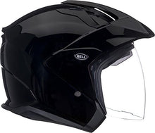 Load image into Gallery viewer, Bell Mag-9 Open Face Motorcycle Helmet (Solid Gloss Black, Medium) - MyBikeCo