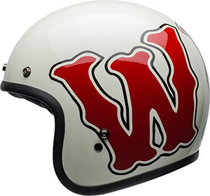 Bell Custom 500 Special Edition Open-Face Motorcycle Helmet (RSD WHO Gloss White/Red, Medium) - MyBikeCo