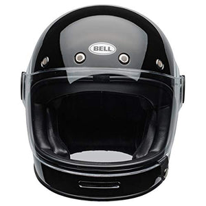 Bell Bullitt Full-Face Motorcycle Helmet (Bolt Gloss Black/White, Large) - MyBikeCo